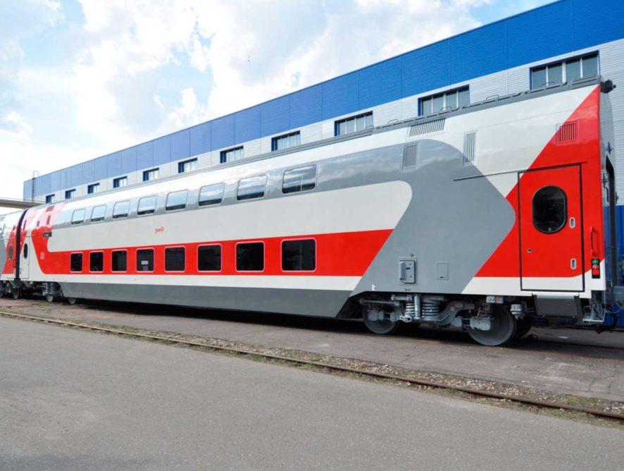 Двухэтажный пассажирский вагон тверского производства признали лучшим