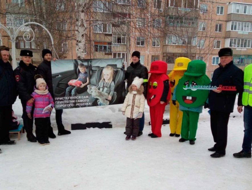 В Белгородской области дворовые территории оборудовали тренировочными площадками по безопасной перевозке детей