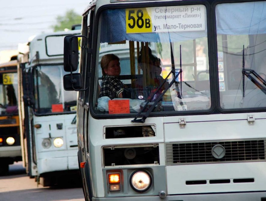 Рейд по маршруткам устроили в Воронежской области