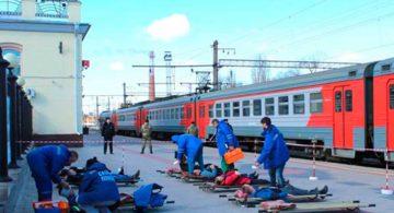 На станции Воронеж-1 прошли совместные тактико-специальные учения медиков и спецслужб