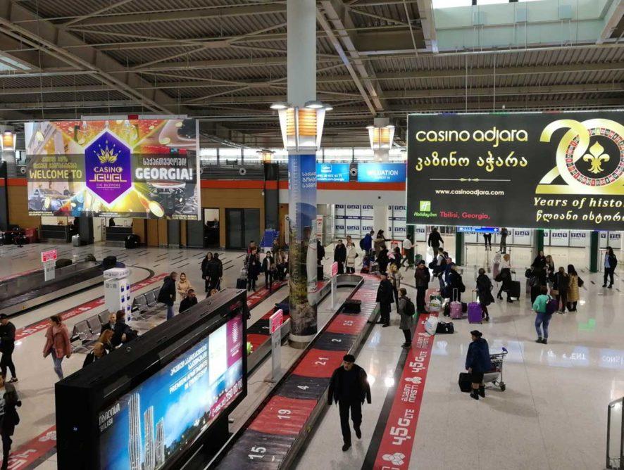 Пассажиропоток международных аэропортов Грузии вырос на 20,9%