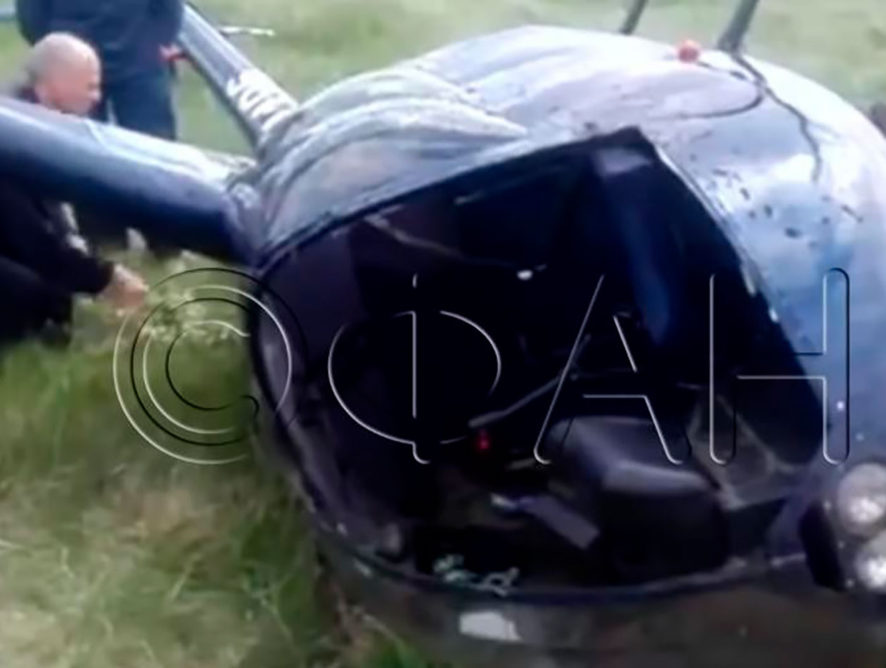 За крушение вертолета под Воронежем пилот выплатит 100 тыс рублей
