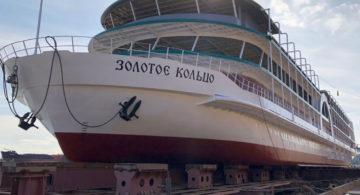 В Астрахани спустили на воду первый круизный лайнер для мелководья